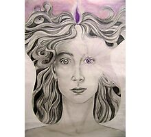 Angel of the Violet Flame pencil and pasel on paper Photographic Print