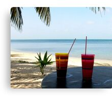 Typical Tropical   Central America Canvas Print