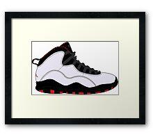 "Air Jordan X (10) ""Chicago"" Framed Print"