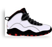 """Air Jordan X (10) """"Chicago"""" Canvas Print"""