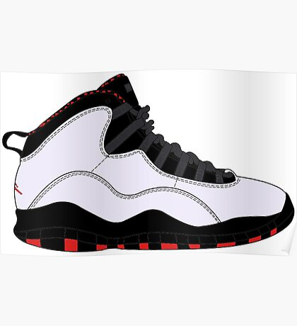 "Air Jordan X (10) ""Chicago"" Poster"