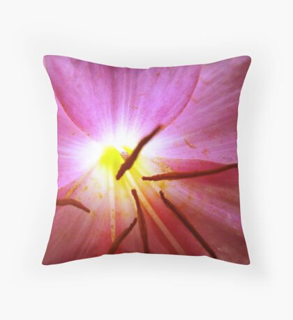 Violet Flower Glow-(Floral Macro) Throw Pillow