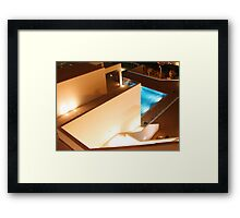 reflected light... Framed Print