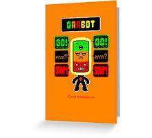 GARBOT Amber Background Greeting Card