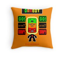 GARBOT Amber Background Throw Pillow