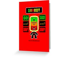 GARBOT Red Background Greeting Card