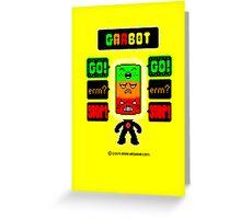 GARBOT Yellow Background Greeting Card