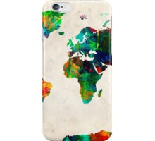 World Map watercolor iPhone Case/Skin