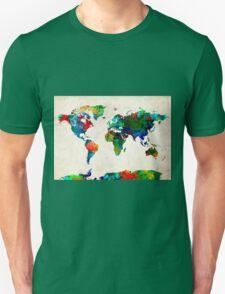 World Map watercolor Unisex T-Shirt
