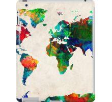 World Map watercolor iPad Case/Skin