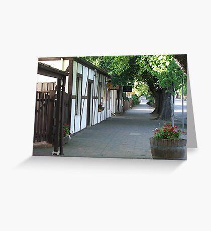 Footpath View Greeting Card