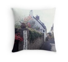Pottery in a cute town called Crail Throw Pillow