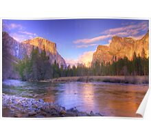 Yosemite Valley at Sunset Poster