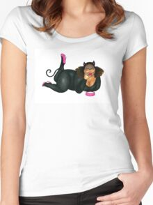 The Cat who got Too Much Cream Women's Fitted Scoop T-Shirt