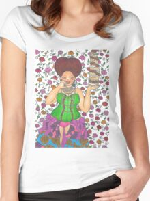 Let Her Eat Cake Women's Fitted Scoop T-Shirt