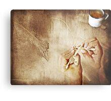 Weaving Hands Metal Print