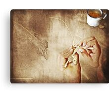Weaving Hands Canvas Print
