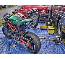 Team Ducati, Teretonga Photographic Print