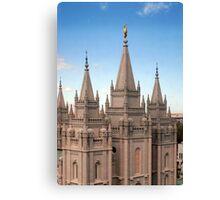 Salt Lake Temple - Blue Skies Canvas Print