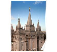 Salt Lake Temple - Blue Skies Poster