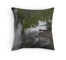 Fishing Alone...Central America Throw Pillow