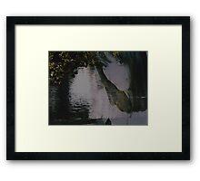 Trust: The ripples of Life Framed Print