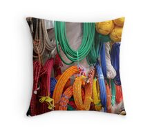 Which Rope....Central American Market Throw Pillow