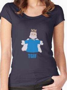 TGIKF - Thank God it's King Friday Women's Fitted Scoop T-Shirt