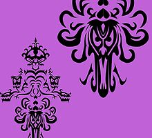 Haunted Mansion wallpaper pattern designed and recreated by Topher Adam by TopherAdam