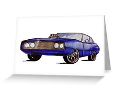 Classic Dodge Charger Greeting Card