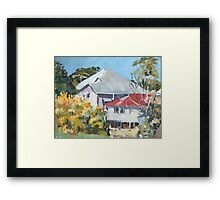 Wattle in Flower Framed Print