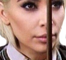 Kim Kardashian Hogwarts Sticker