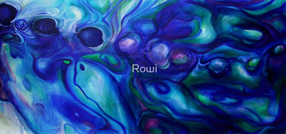 Paua abstract 6 by Rowi