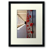 Wall Of Rememberance Framed Print