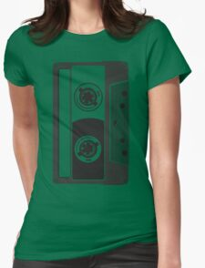 Big Cassette Womens Fitted T-Shirt