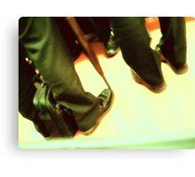 suits.... men in black Canvas Print
