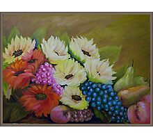 Fruits And Flowers Photographic Print