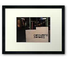consuming zombies Framed Print
