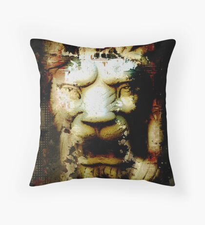 Lion Destruction Throw Pillow
