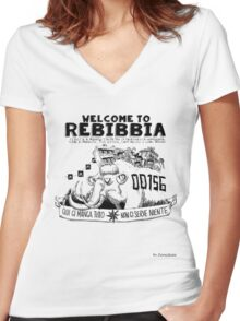Rebibbia by Zerocalcare Women's Fitted V-Neck T-Shirt