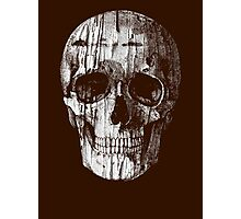 Ripped Up Skull Photographic Print