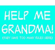 Help Me Grandma! Photographic Print