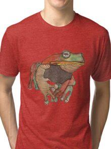 We all know Frogs go La-di-da-di-da! Tri-blend T-Shirt