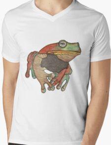 We all know Frogs go La-di-da-di-da! Mens V-Neck T-Shirt