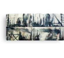Urban Totems(Diptych) Canvas Print