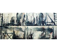 Urban Totems(Diptych) Photographic Print