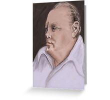 Winston Churchill after John Greeting Card