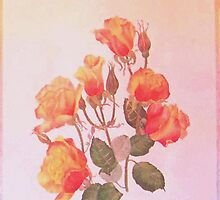 Orange Roses by JANET SUMMERS
