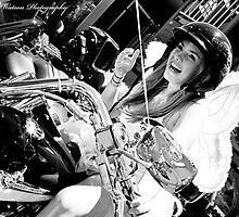 Fairy on a bike? by Sarah Watson