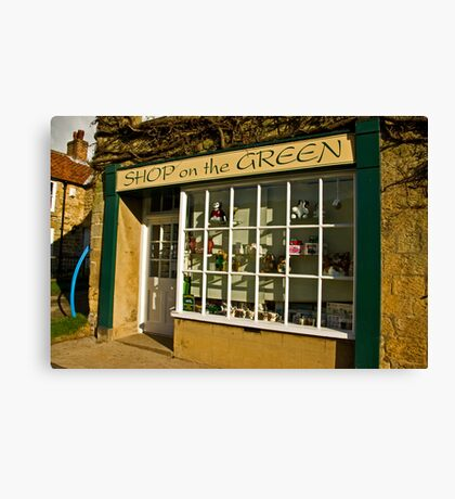 Shop on the Green Canvas Print